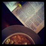 Mac-n-cheese and the Word... Bible study with friends tonight.