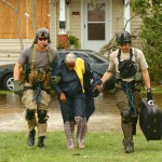 Helicopter aircrews rescue hurricane victims